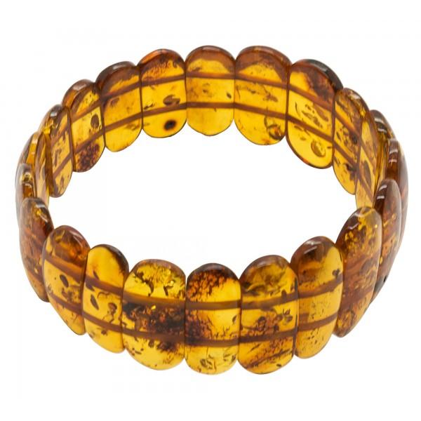 Bracelet d'ambre couleur cogniac