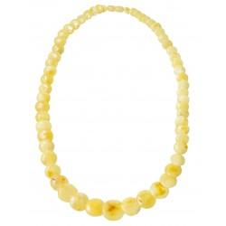 collana di ambra reale con perla a forma di bottone
