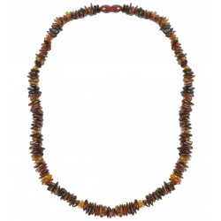 Amber necklace for adults irregular cognac amber stones