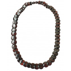 Amber necklace woman, amber cherry