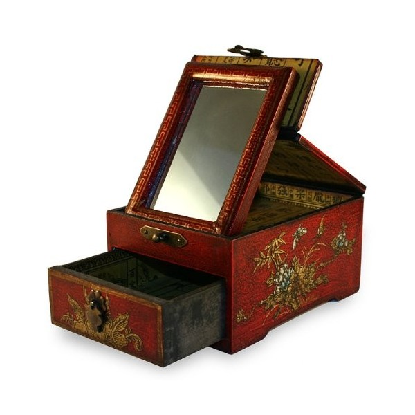 Kleine Box Schmuck Chinese Old Red