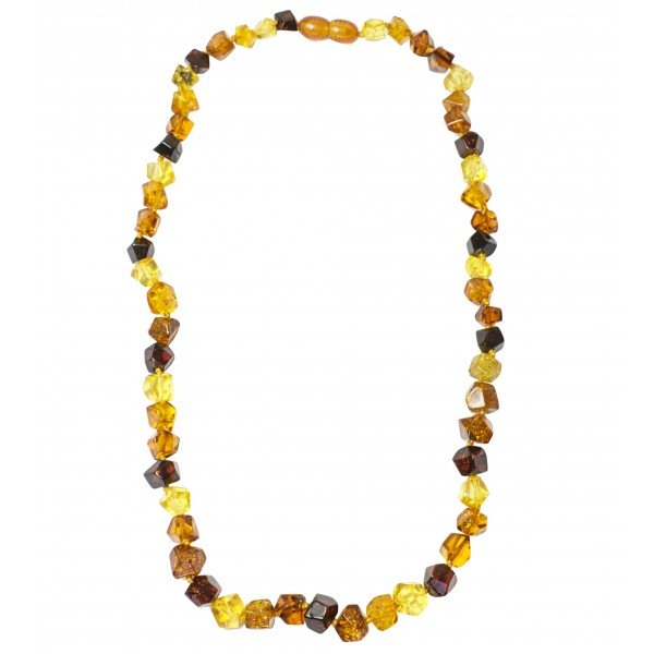 Collier Adulte tout ambre multicolore
