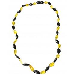 Erwachsene Halskette Bernstein Perle Zitrone und Kirsche