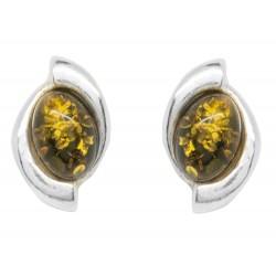 Silber und Grün Gelb Ohrring