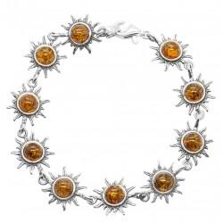 Sun Bracciale argento e ambra