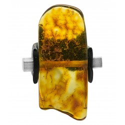 Big Amber Honey Ring Natural Effect