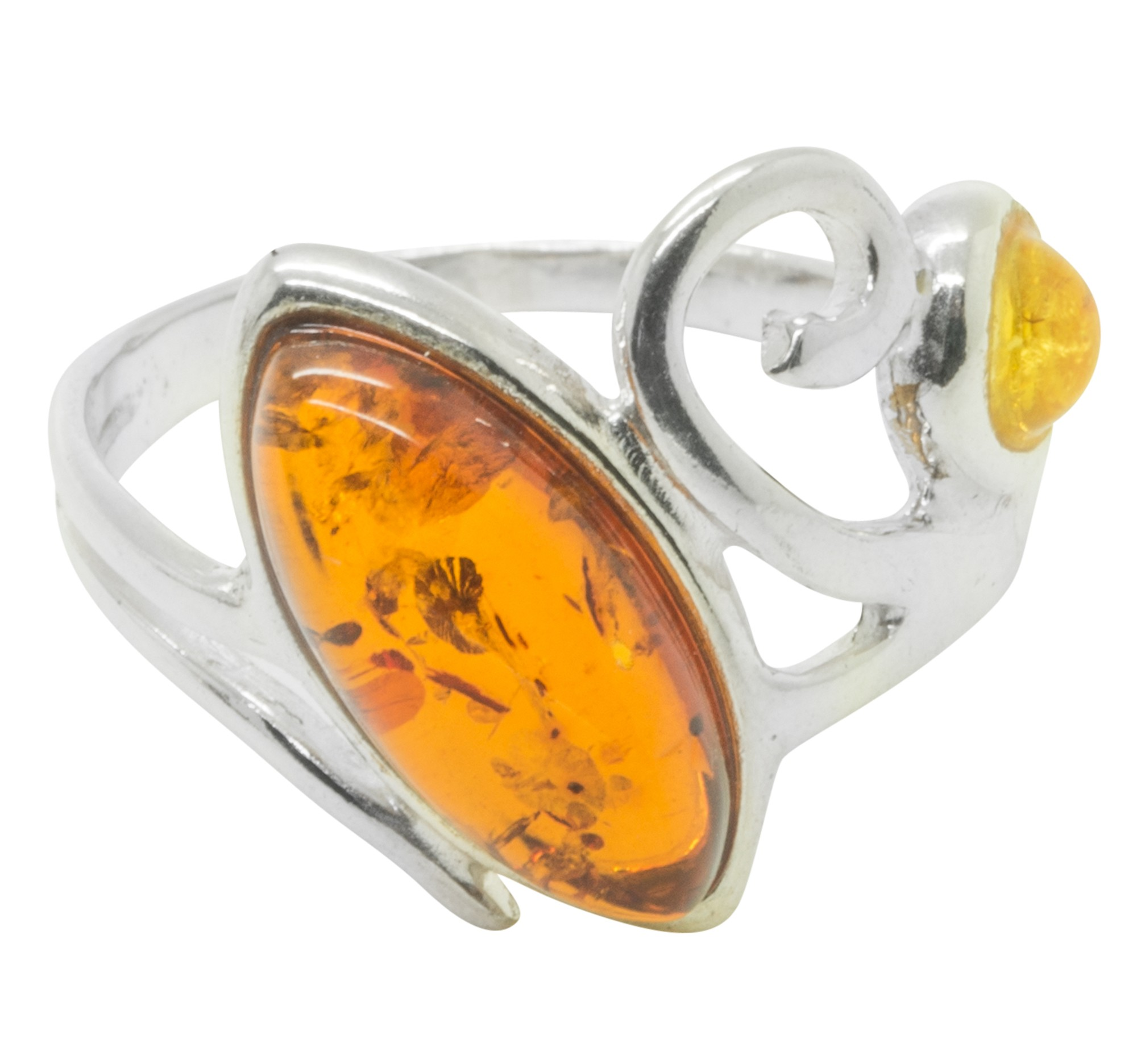 Mehrfarbig Silber 9251000 Und Bernstein Ring OP80Xwnk