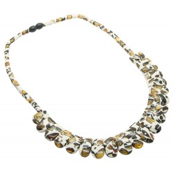 Cleopatra mosaic amber necklace