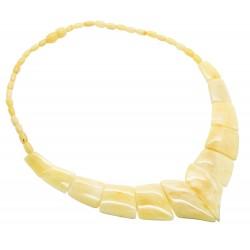 Real collar de ámbar (ámbar blanco)