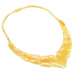 Royal amber cream necklace