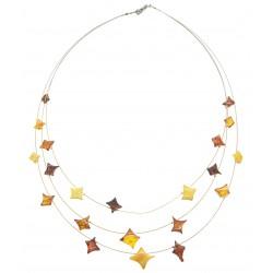 Multicolore collana di ambra a forma di stella
