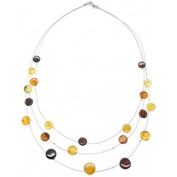 Multicolored amber necklace