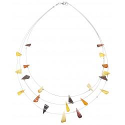 Multicolore ambra collare triangolare