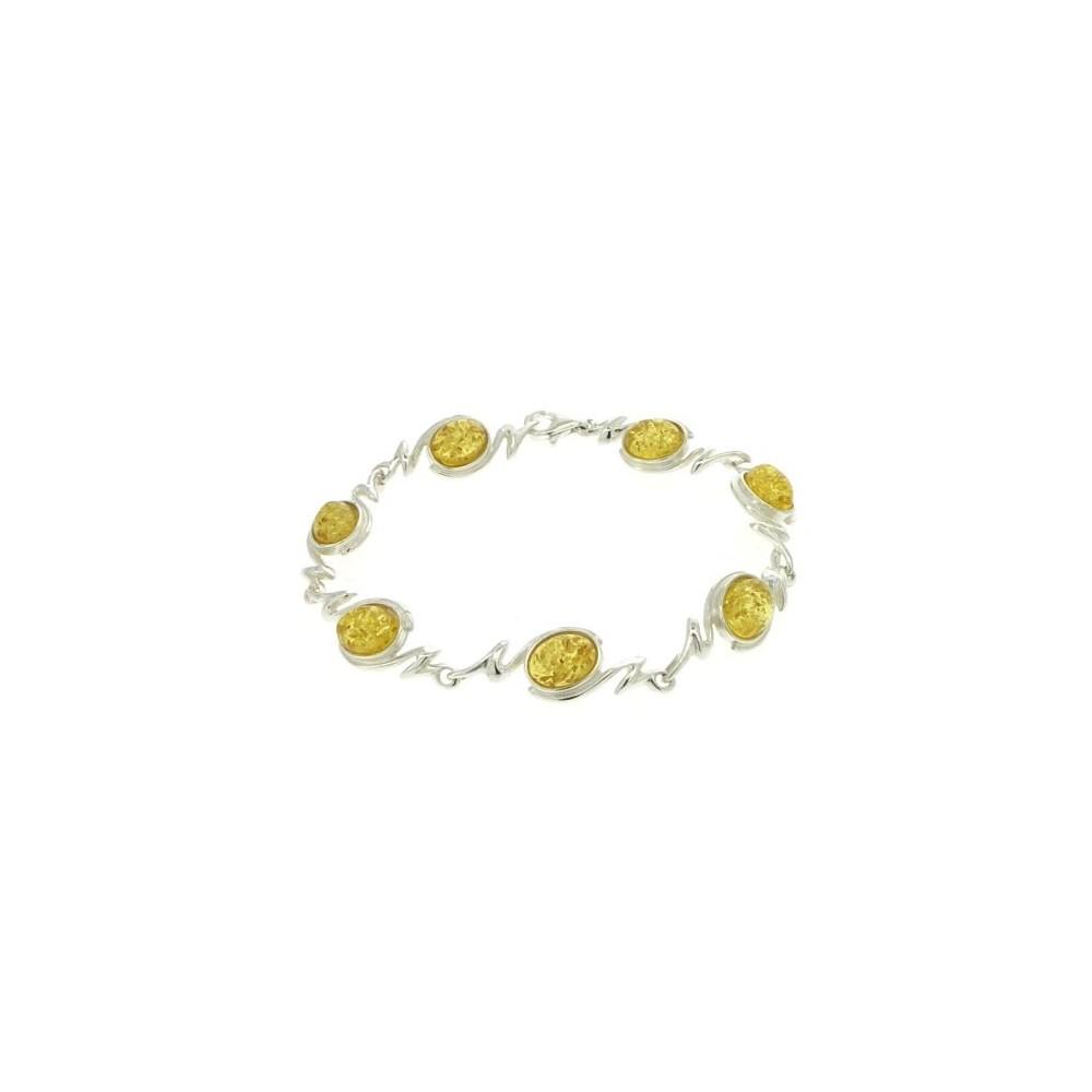 bracelet ambre citron femme argent bijoux d 39 ambre. Black Bedroom Furniture Sets. Home Design Ideas