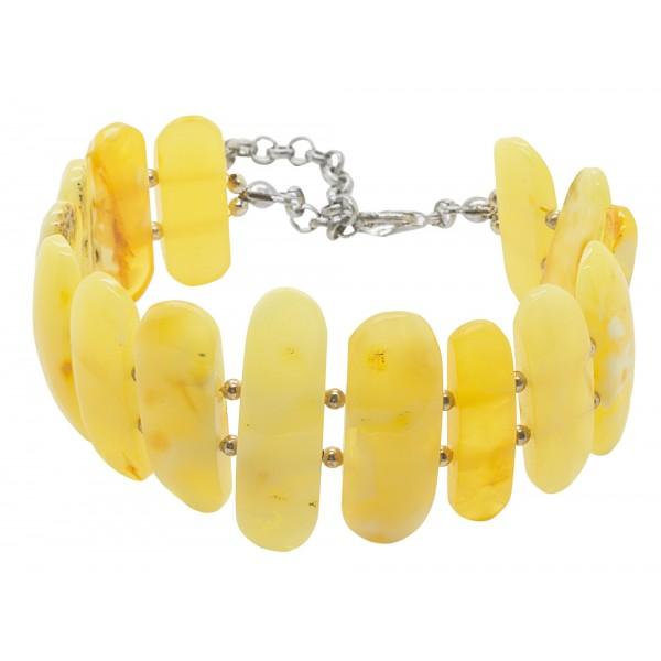 Large bracelet d'ambre Royal naturel