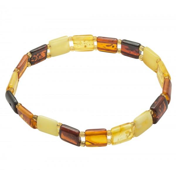 Bracelet en ambre multicolore