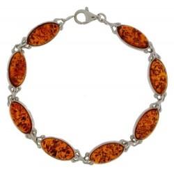 Bracelet Ambre Cogniac femme