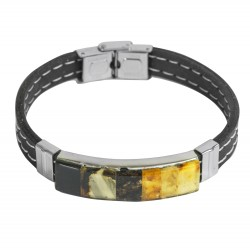 Single Sex Mosaik Armband Bernstein und Silikon
