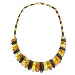 collar de ámbar multicolor Modelo Cleopatra