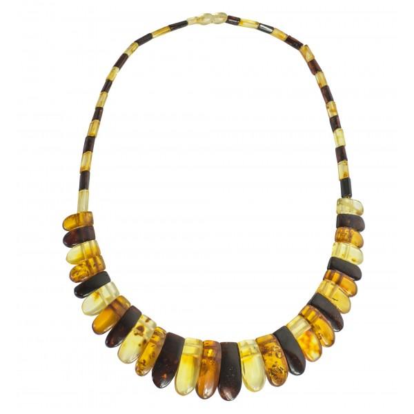 Collier d'ambre multicolore Modèle Cléopatre