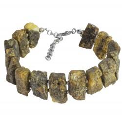 Bracelet femme en ambre brut