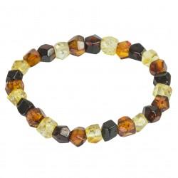 Multicolore braccialetto intagliato ambrato