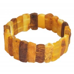 Raw and non-polished adult amber bracelet