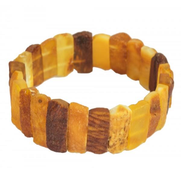 Bracelet d'ambre adulte brut et non-polis
