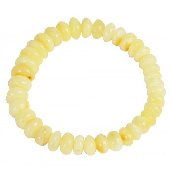 white adult amber bracelet