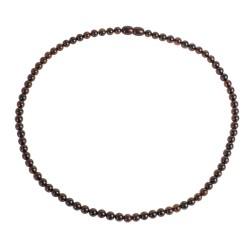 Collier d'ambre perle extra ronde couleur cerise