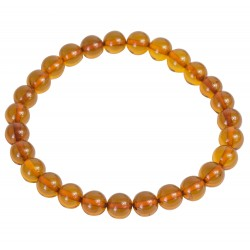 Pearl amber cognac bracelet extra round