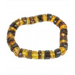 Bernstein Armband multicolor - polierte runde Steine