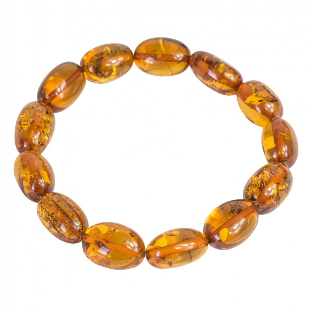 bracelet d 39 ambre adulte perle ovale couleur miel bijoux d 39 ambre. Black Bedroom Furniture Sets. Home Design Ideas