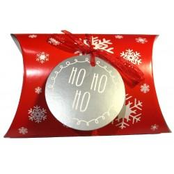 """scatola cuscino di Natale """"Ho, Ho, Ho"""""""