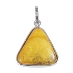 Miele ambra ciondolo nuvola d'argento e 925/1000