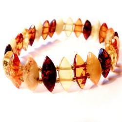 Armband Bernstein farbige Diamanten mit Bernstein Steinen