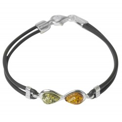Bracelet with amber multi-color on silicone