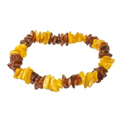 Adult amber bracelet with honey and cognac