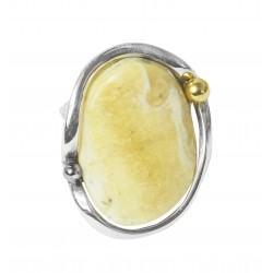 Ring amber royal and silver 925/1000