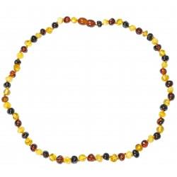 Bernsteinkette Adult multicolor Perle