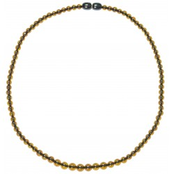 Necklace amber multicolor pearl extra round