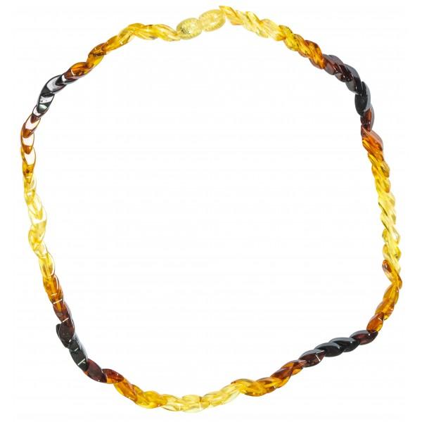 Collier adulte avec ambre en dégradé de couleurs