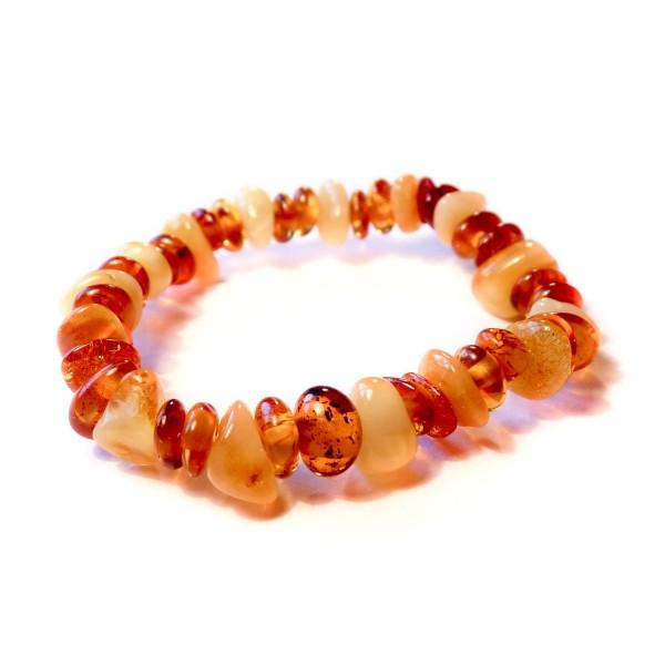 Bracelet bébé en ambre couleur miel et blanc