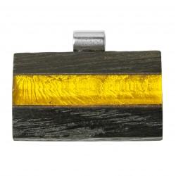 Gran colgante de madera fina con miel ámbar y real