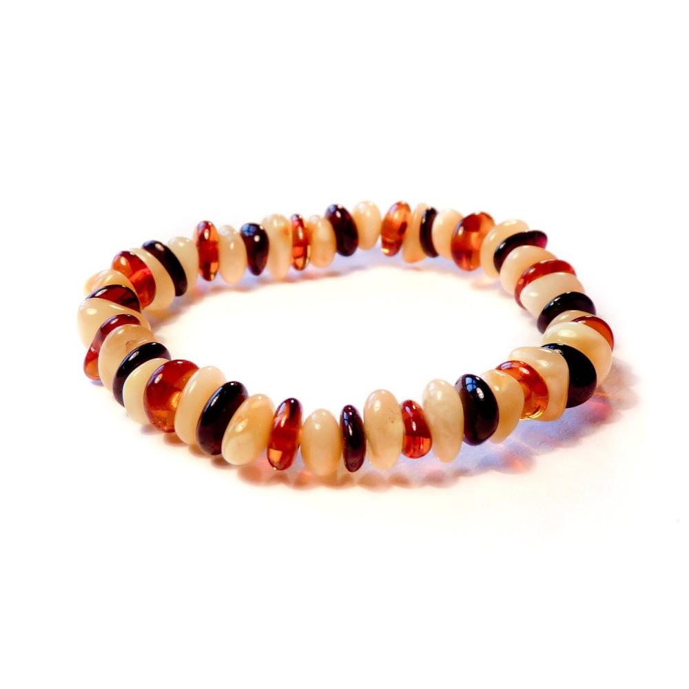 bracelet b b en ambre couleur blanc miel et cognac. Black Bedroom Furniture Sets. Home Design Ideas