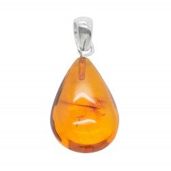 Amber pendant shape drop of water