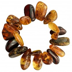 Multicolored adult amber bracelet - petals