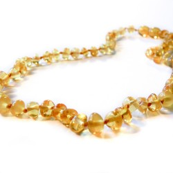 Yellow baby amber necklace
