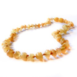Wild yellow baby amber necklace