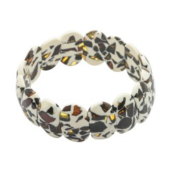 Bracelet in amber mozaic